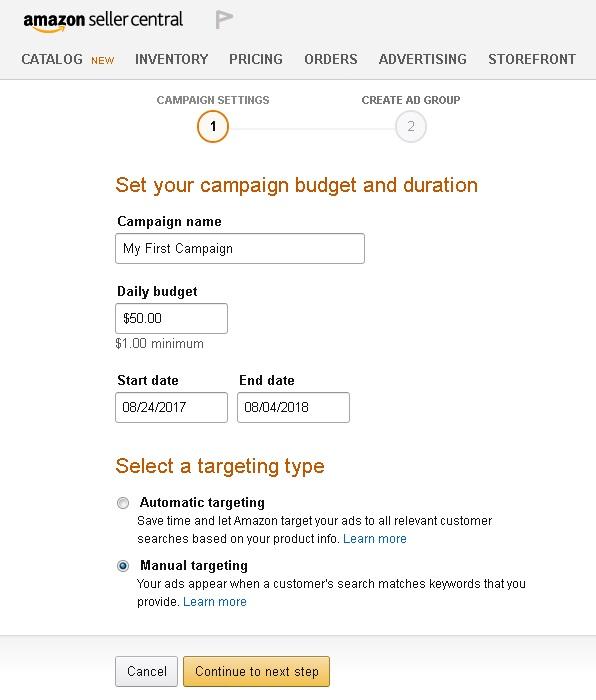 Amazon pay per click ads