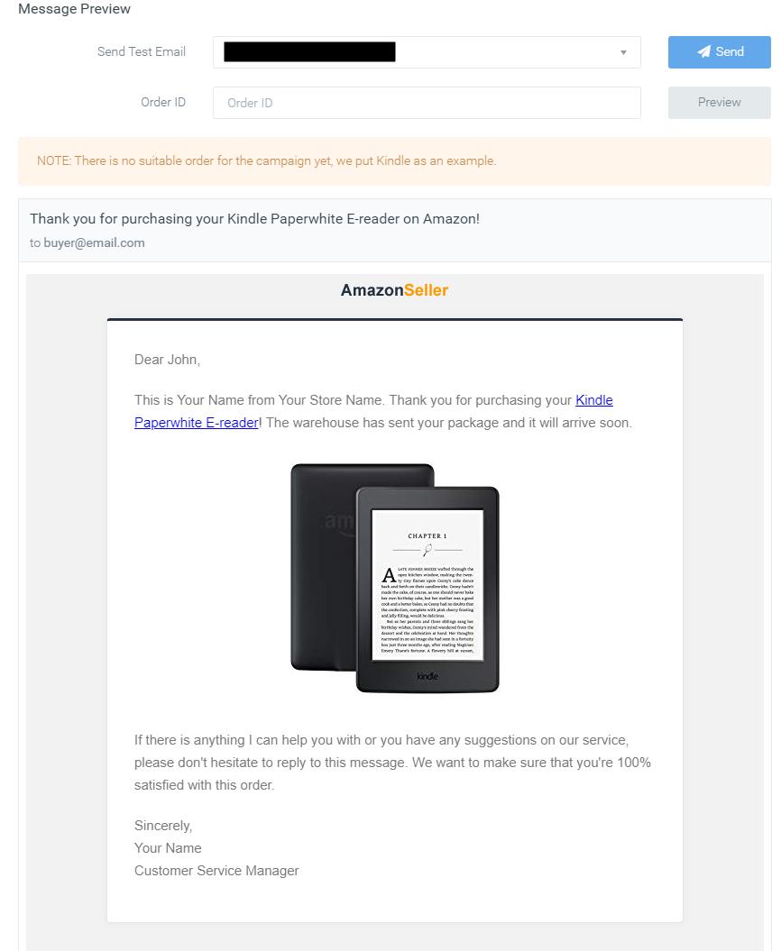SageMailer message preview